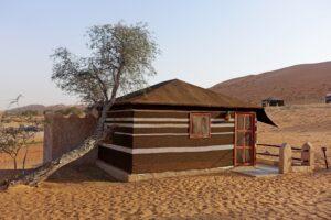 oman tent in woestijn
