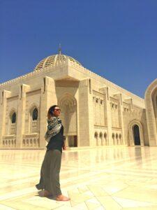 oman sybylle bij moskee